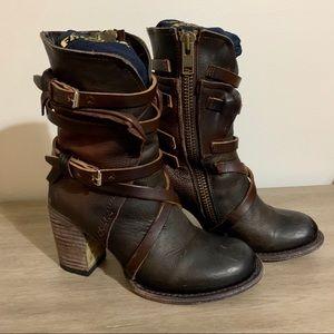 Freebird Baker Boots 7 Olive Multi